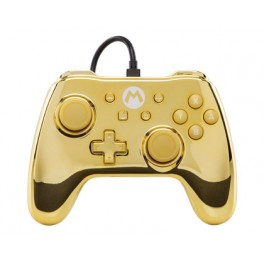 Manette filaire Mario Gold Edition Chrome