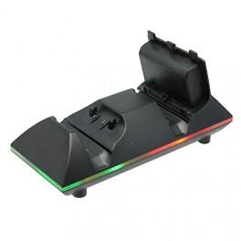 Chargeur de Batterie de Manette Xbox One - 2 Batteries et Cordon Inclus