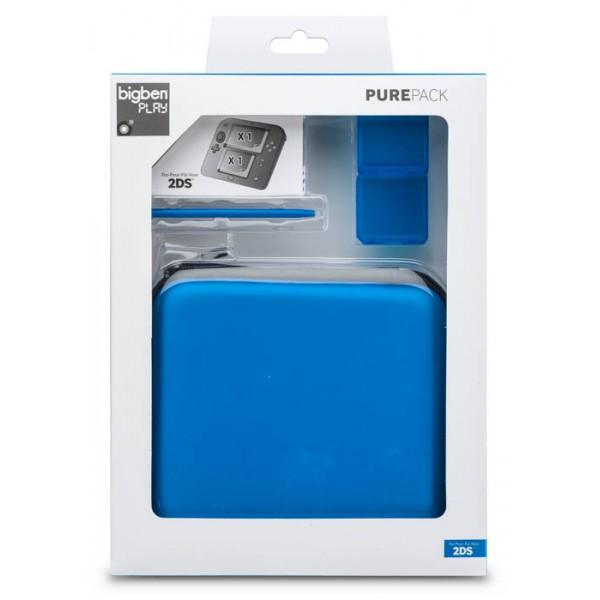 sacoche et accessoires nintendo 2ds pure bleu. Black Bedroom Furniture Sets. Home Design Ideas