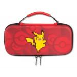 Sacoche Pokémon PIKACHU fond rouge pour Nintendo Switch