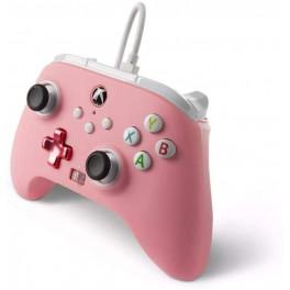 Manette Améliorée Filaire Rose Série X/S pour Microsoft Xbox One