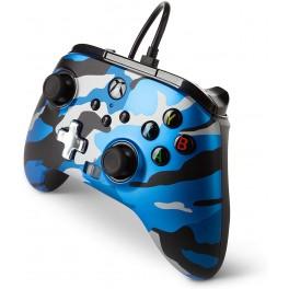 Manette Améliorée Filaire Métalic Bleu Camo Série X/S pour Microsoft Xbox One
