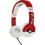 Casque Audio Enfants Pokémon Pokeball Rouge et Blanc