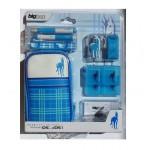 Accessoires pour DSLite / DSi Cheval Bleu. Housse de rangement pour Nintendo DSLite/DSi et ses accessoires décor cheval.