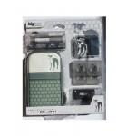 Accessoires pour DSLite / DSi Chien Gris. Sacoche de rangement pour console de jeux vidéo Nintendo DSLite/DSi, décor chien.