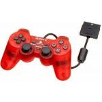 Manette Dualshock 2 Rouge Transparente