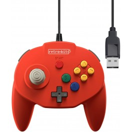 Manette Tribute 64 USB Rouge pour Nintendo Switch / PC ....